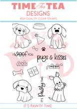 Load image into Gallery viewer, It's Pawty Time Clear Stamp Set