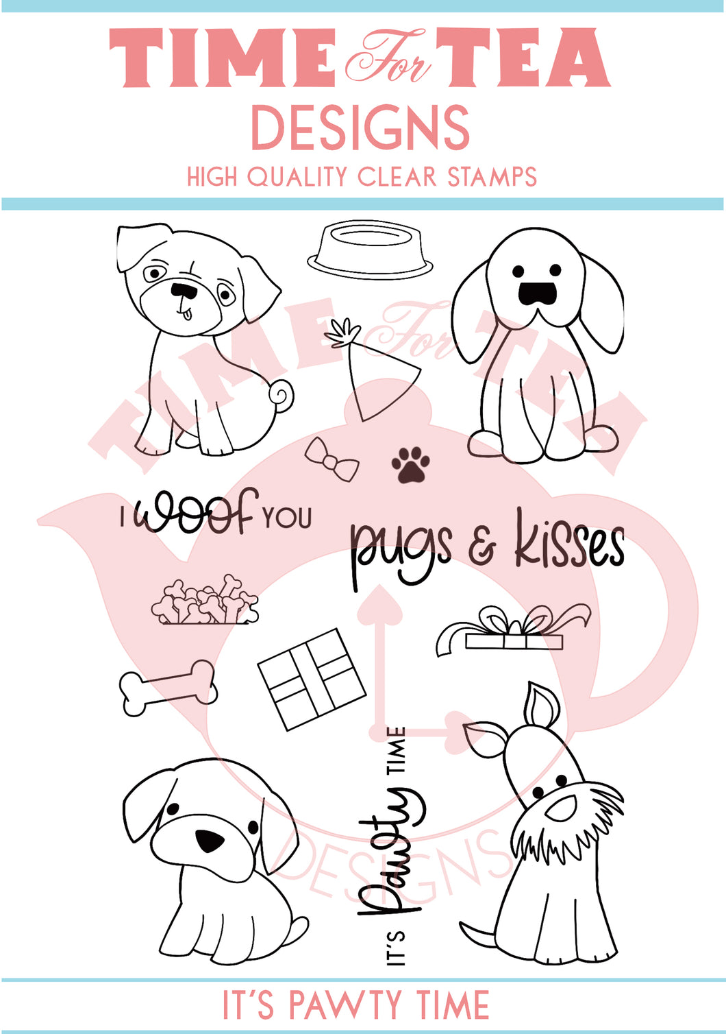 It's Pawty Time Clear Stamp Set