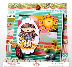Life's A Beach Clear Stamp Set