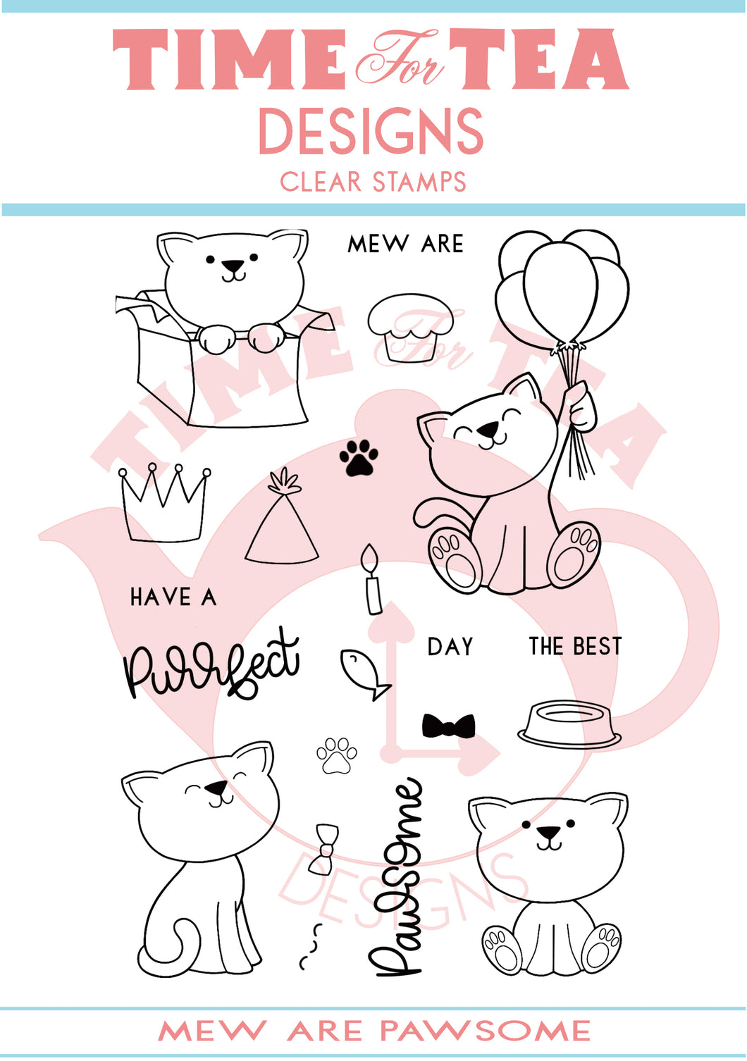 Mew Are Pawsome Clear Stamp Set