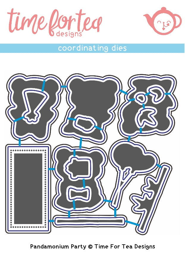 Pandamonium Party Coordinating Die set