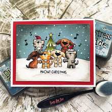 Load image into Gallery viewer, Pawsome Christmas Clear Stamp Set
