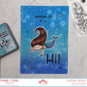 Swimming By To Say Hi Clear Stamp Set