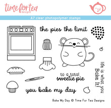 Load image into Gallery viewer, Bake My Day A7 Clear Stamp Set
