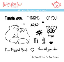 Load image into Gallery viewer, Big Hugs A7 Clear Stamp Set