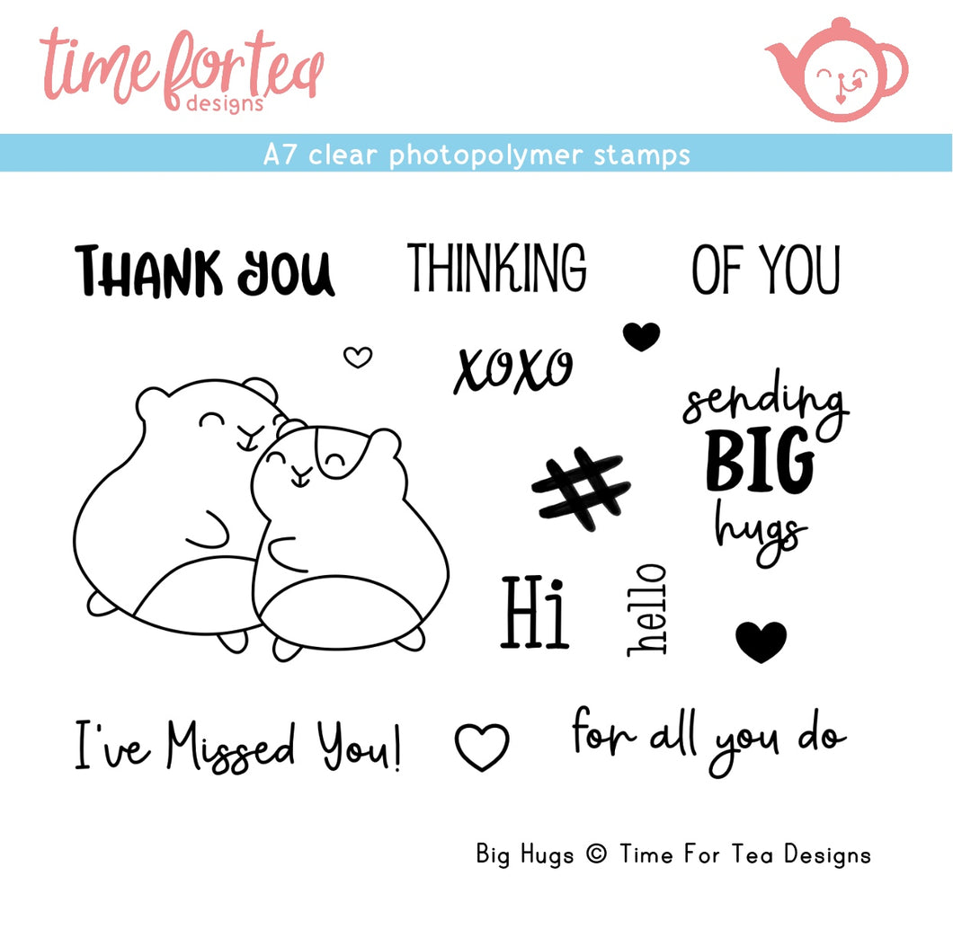 Big Hugs A7 Clear Stamp Set