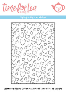 Scattered Hearts Cover Plate Die