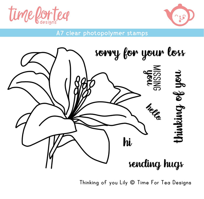 Thinking of You Lily A7 Clear Stamp Set