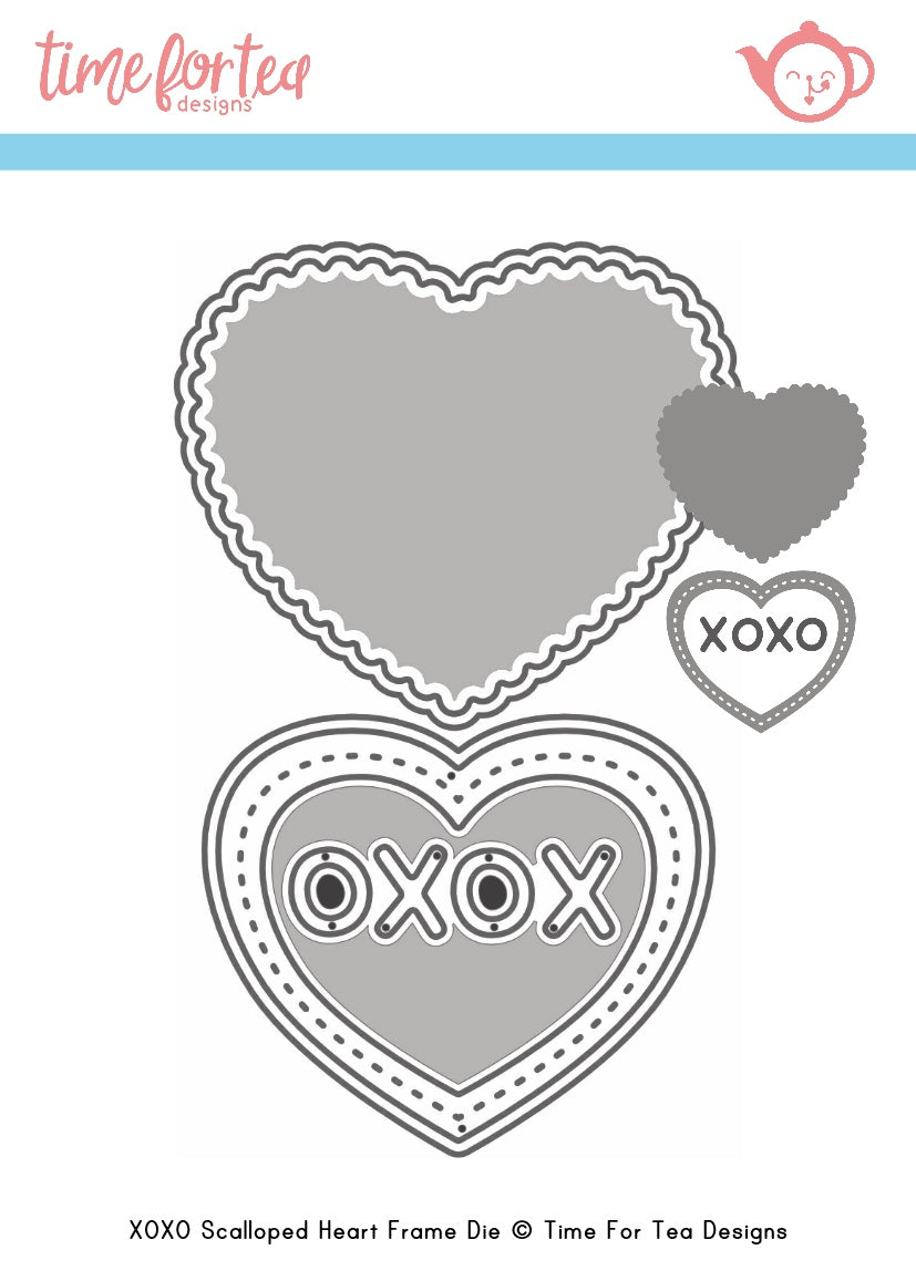 Small Heart XOXO Die Set