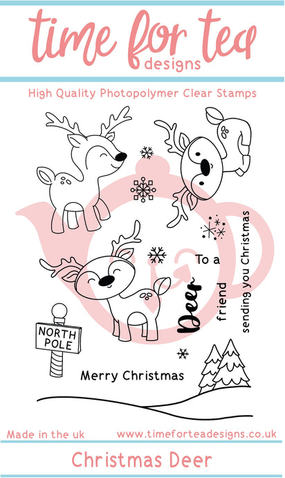 Christmas Deer Clear Photopolymer Stamp Set