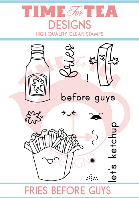 Fries Before Guys A7 Clear Stamp Set