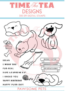 Pawsome Pets Digital Stamp Full Collection