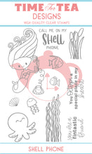 Load image into Gallery viewer, Shell Phone Clear Stamp Set