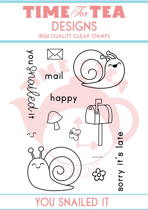 You Snailed It A7 Clear Stamp Set