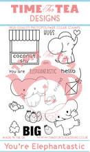Load image into Gallery viewer, Elephantastic Clear Stamp Set