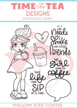 Load image into Gallery viewer, Willow Iced Coffee Digital Stamp Collections