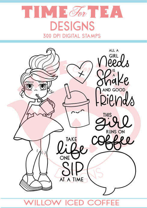 Willow Iced Coffee Digital Stamp Collections