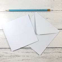 "Load image into Gallery viewer, Square 5"" Card Blanks and Envelopes - Pack of 10"