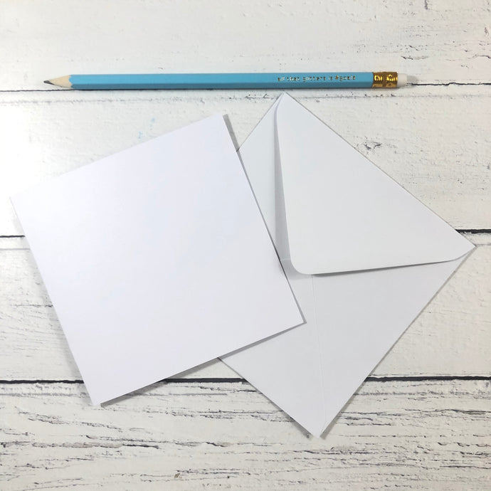 "Square 5"" Card Blanks and Envelopes - Pack of 10"