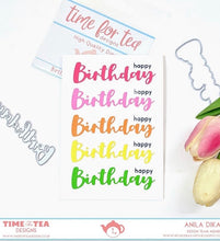 Load image into Gallery viewer, Birthday Sentiment Die Set