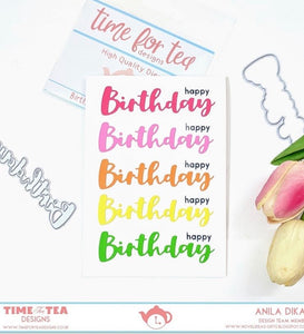 Birthday Sentiment Die Set