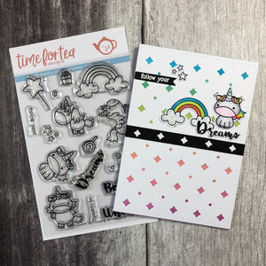 Unicorn In Training Clear Stamp Set