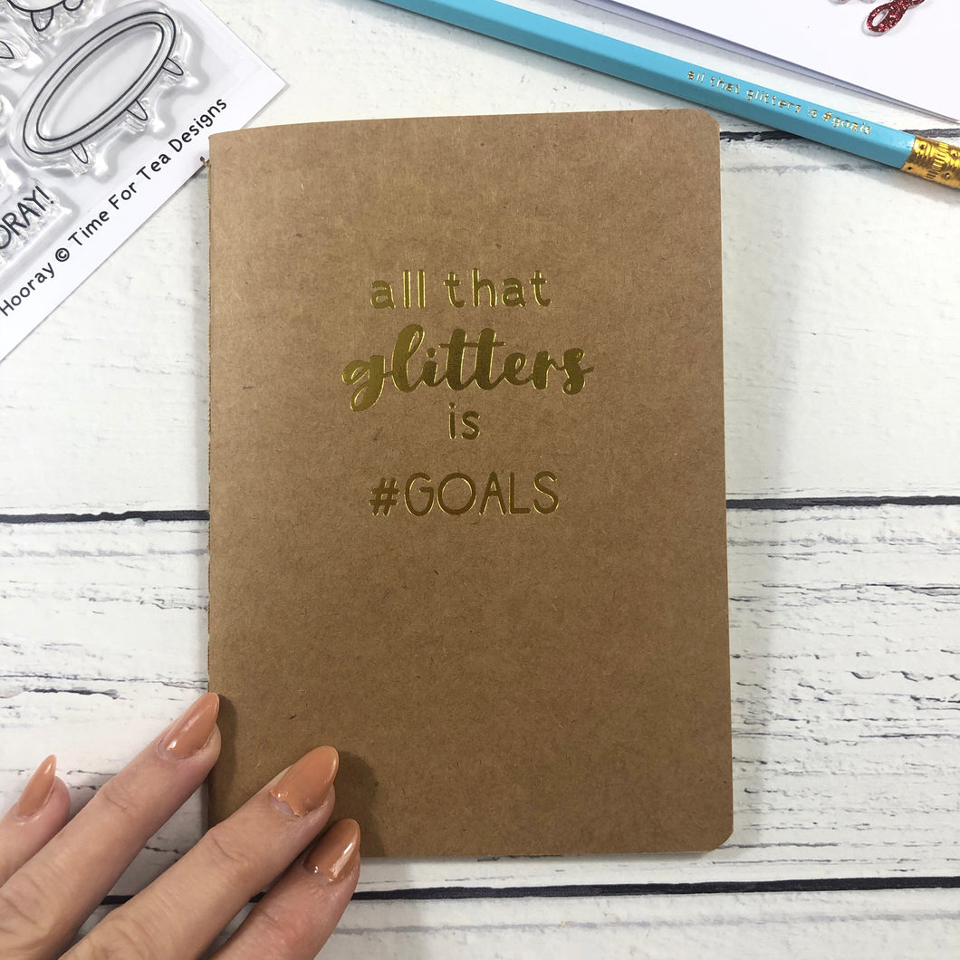 Foiled Quote Notebook & Pencil Set