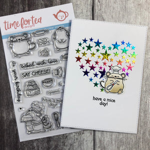 Baked With Love Clear Stamp Set