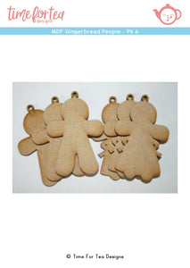 MDF Gingerbread People - Pack of 6