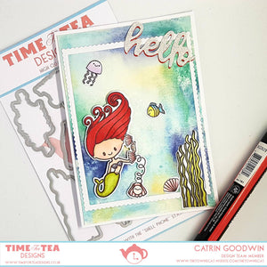 Shell Phone Clear Stamp Set