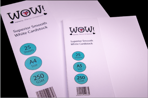 WOW Superior Smooth White Cardstock A5