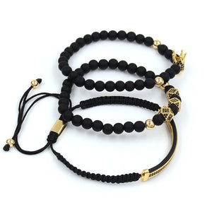 BRACELET ONYX CROWN TRIPLE (3pcs/Set) - Zensitize | Official Store