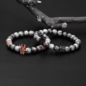BRACELET LARVIKITE CROWN - Zensitize | Official Store