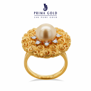 Prima Gold Pearl Diamond Ring 165R0320-03