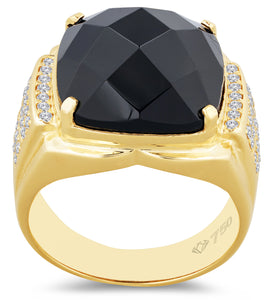 Men's Ring Geometric Black Onyx 9MR10