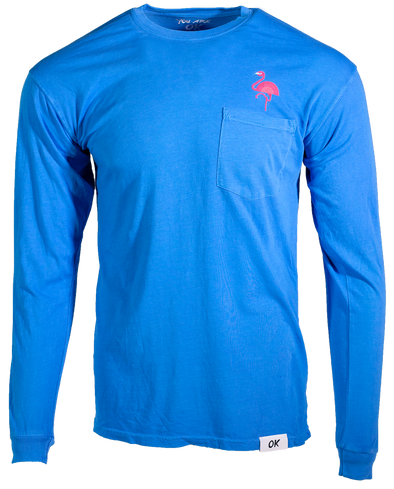 Flamingo Long Sleeve - Sky Blue