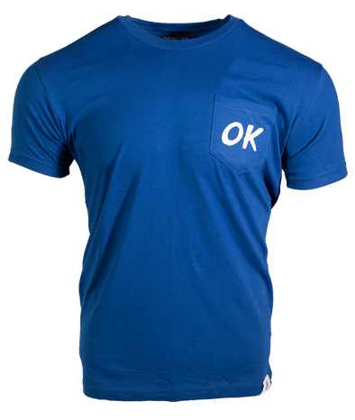 OK Short Pocket Tee - Cool Blue