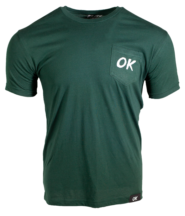 OK Short Pocket Tee - Forest Green