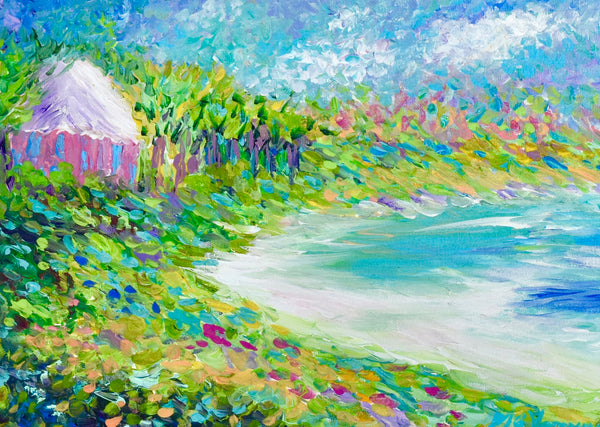 Pink Cottage among Lime Sea Grapes II