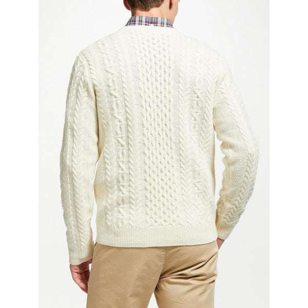 ARAN CRAFTS : Merino Wool Crew Neck Sweater