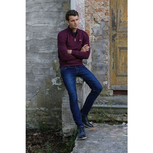 OUTRAGE : Fred Zip Jumper Purple