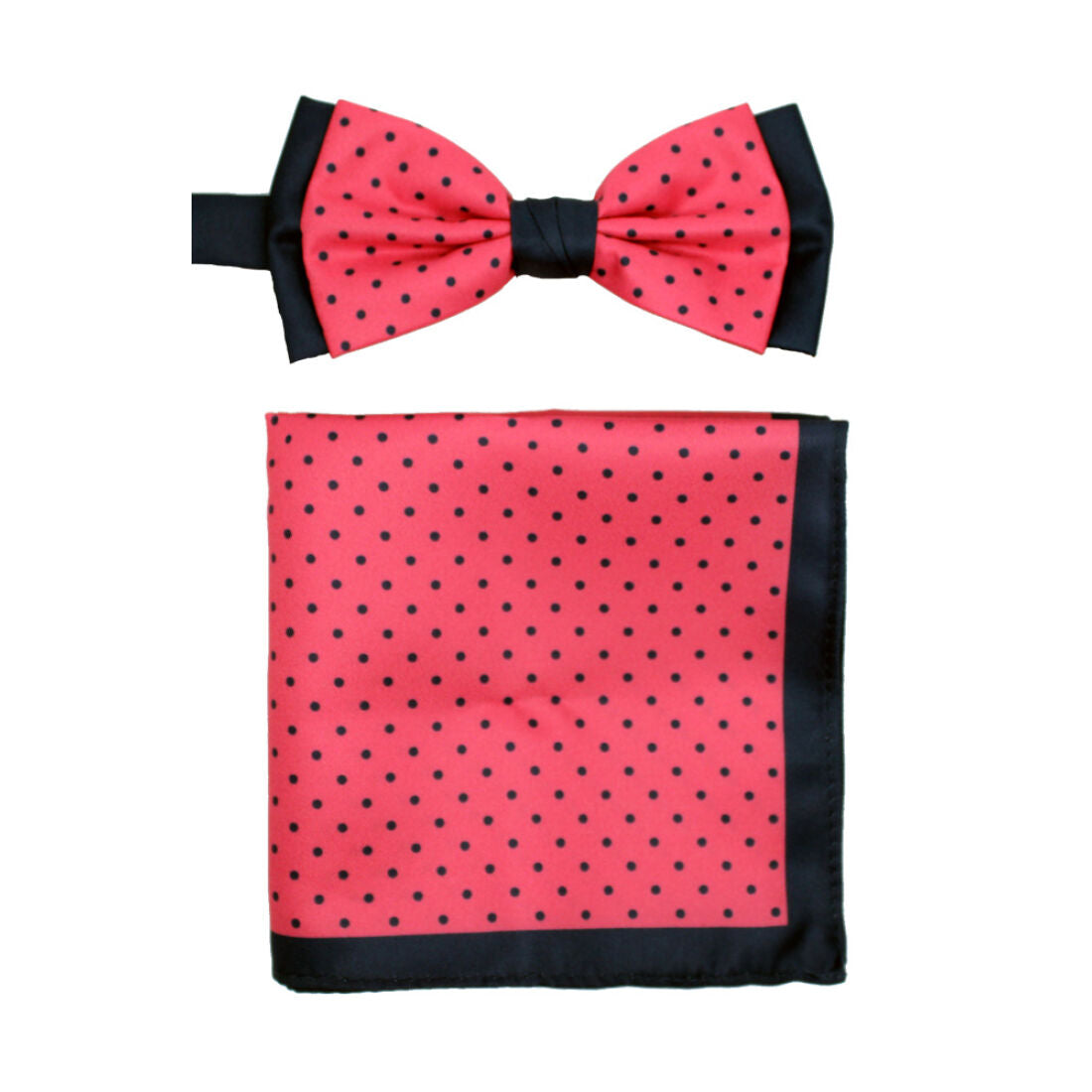 L.A. SMITH : Spotted Two Tone Pink Bow Tie Set