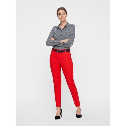 VERO MODA : Red Feminine Trousers