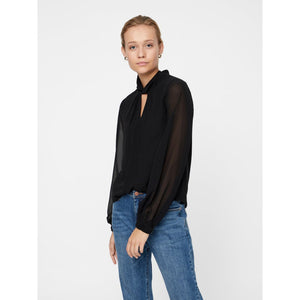 VERO MODA : Long Sleeve Chiffon Top