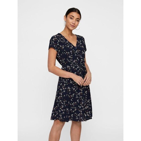 VERO MODA : Tie Band Dress Navy
