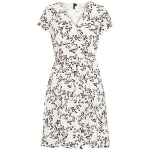 VERO MODA : Tie Band Dress Snow White