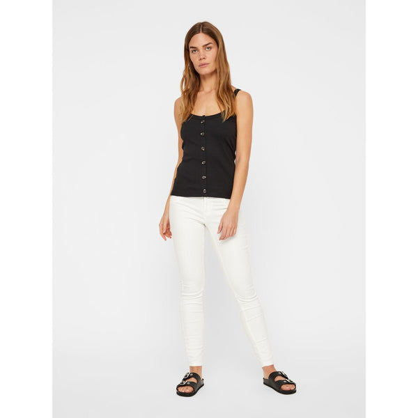 VERO MODA : Ribbed Strap Top Cowhide