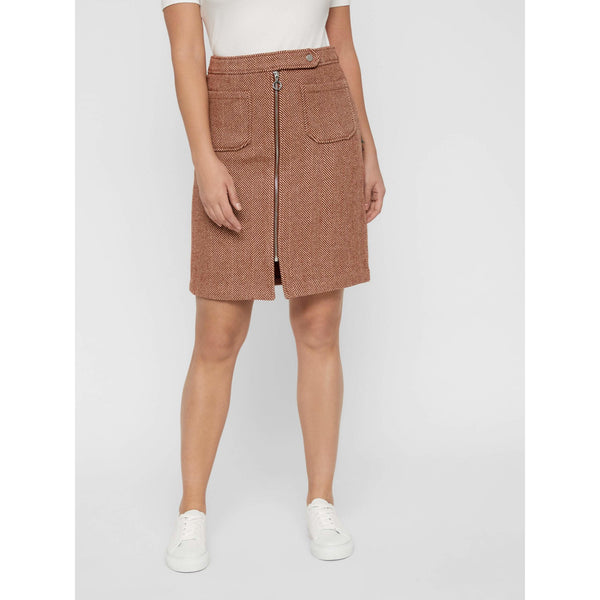 VERO MODA : High waist herringbone skirt
