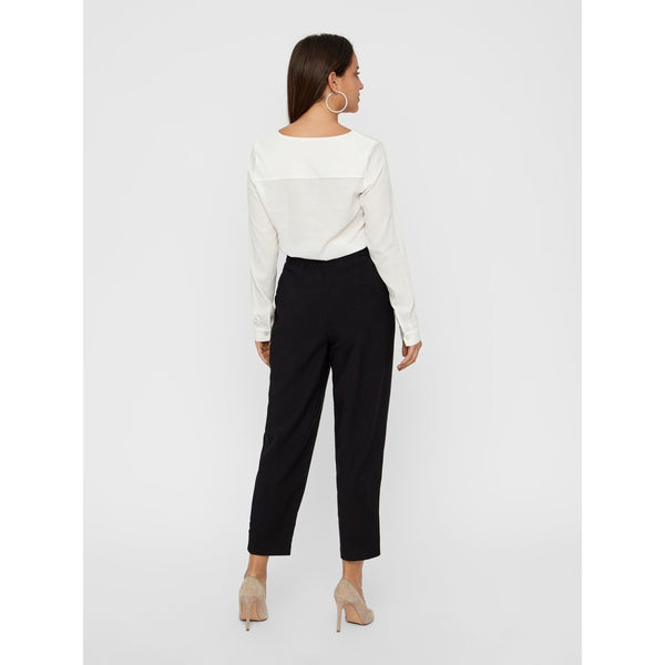 VERO MODA : High Waist Ankle Pant Brown