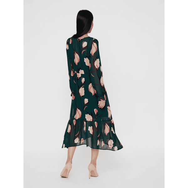 VERO MODA :  Printed Green Dress